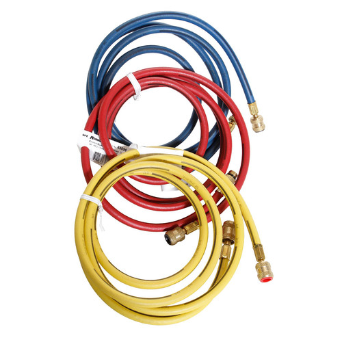 Robinair 60096 8 ft. Set OF Color-Coded Enviro-Guard Hoses (3-Pack)