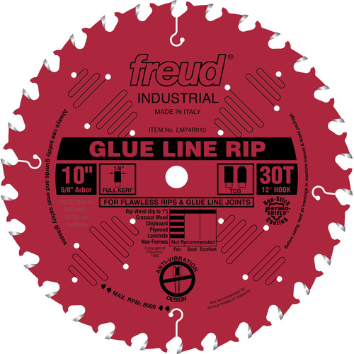 Freud LM74R010 10 in. 30 Tooth Glue Line Ripping Saw Blade