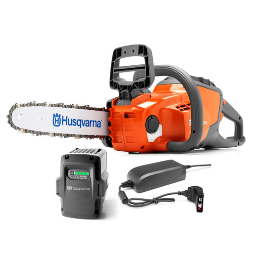 Husqvarna 136Li 40V Cordless Lithium-Ion 12 in. Chainsaw with Battery and Charger