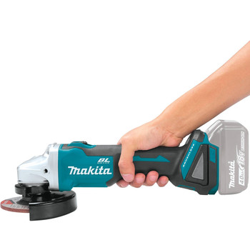 Makita XAG09Z 18V LXT Lithium-Ion Brushless Cordless 4-1/2 in. / 5 in. Cut-Off/Angle Grinder with Electric Brake (Tool Only) image number 2