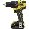 Factory Reconditioned Dewalt DCD709C2R ATOMIC 20V MAX Brushless Lithium-Ion Compact 1/2 in. Cordless Hammer Drill Kit image number 2