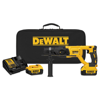 Dewalt DCH133M2 20V MAX XR Cordless Lithium-Ion 1 in. D-Handle SDS-Plus Rotary Hammer Kit