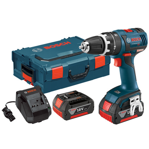 Bosch HDS182-01L 18V Cordless Lithium-Ion 1/2 in. Brushless Compact Tough Hammer Drill Driver Kit with L-BOXX 2 Case
