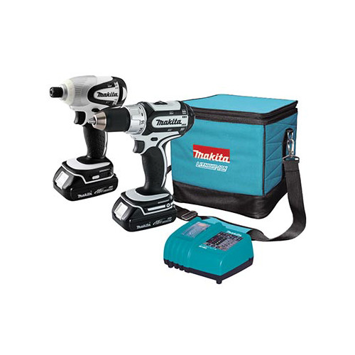 Factory Reconditioned Makita LCT200W-R 18V Cordless Lithium-Ion 1/2 in. Drill Driver & 1/4 in. Impact Driver Combo Kit