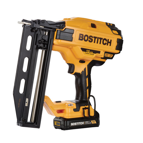 Bostitch BCN662D1 20V MAX 2.0 Ah Lithium-Ion 16 Gauge Straight Finish Nailer Kit image number 0