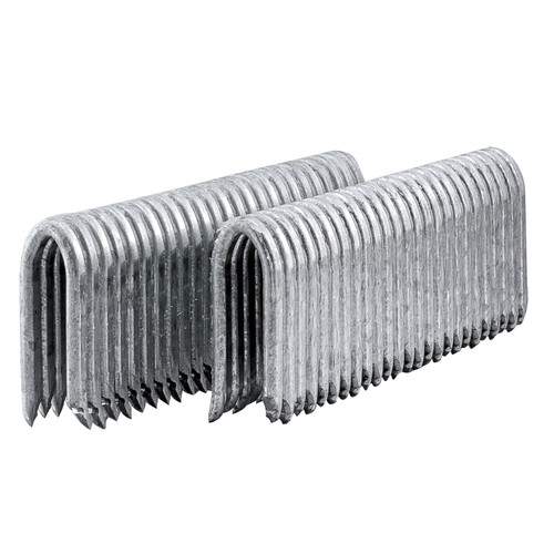 Freeman FS105G125 1,500-Piece 10.5 Gauge 1-1/4 in. Glue Collated Barbed Fencing Staple Set image number 0