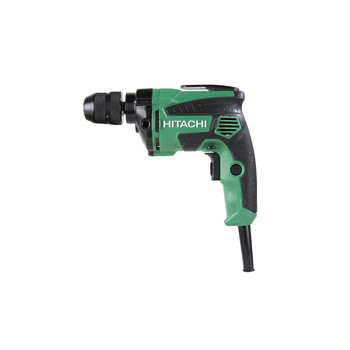 Hitachi D10VH2 7 Amp Variable Speed 3/8 in. Corded Drill Driver with Metal Keyless Chuck