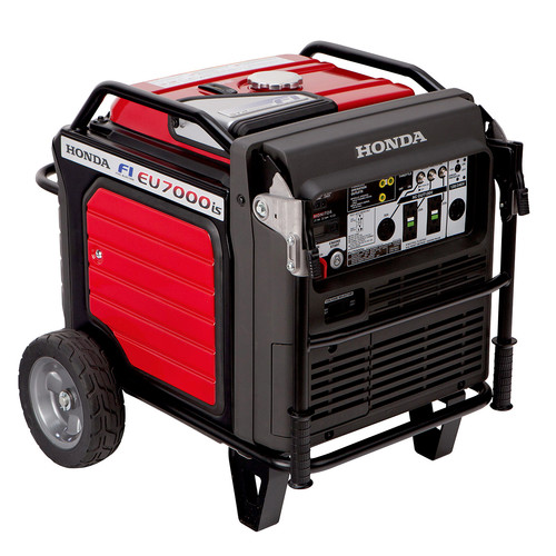 Honda EU7000iAT1 EU7000iS 7,000 Watt Super Quiet Portable Inverter Generator with Electric Start