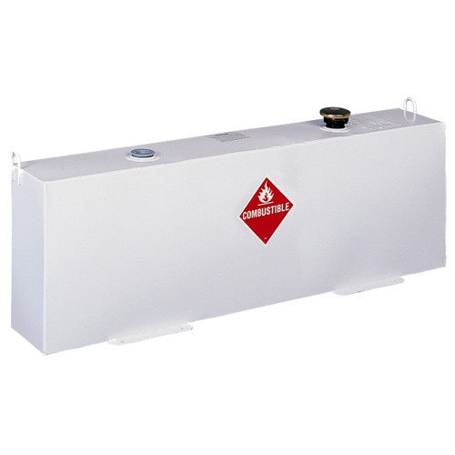 JOBOX 486000 37 Gallon Vertical Steel Liquid Transfer Tank - White image number 0