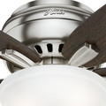Hunter 51082 42 in. Newsome Brushed Nickel Ceiling Fan with Light image number 5