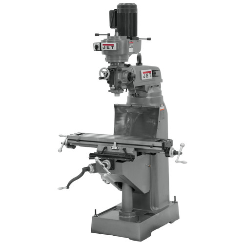 JET JVM-836-3 8 in. x 36 in. 1-1/2 HP 3-Phase Vertical Milling Machine image number 0