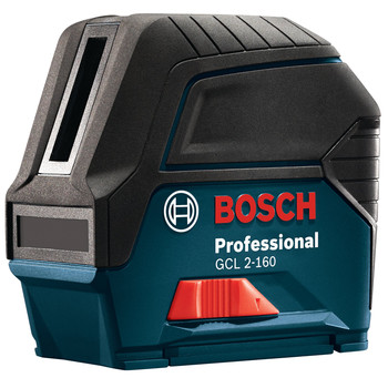 Bosch GCL2-160 Self-Leveling Cross-Line Laser with Plumb Points