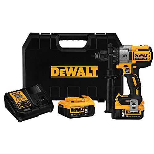 Factory Reconditioned Dewalt DCD991P2R 20V MAX XR Cordless Lithium-Ion 1/2 in. Brushless 3-Speed Drill Driver Kit with (2) Battery Packs