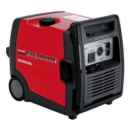 Honda EU3000i Handi 3,000 Watt Portable Inverter Generator with Parallel Capability (CARB)