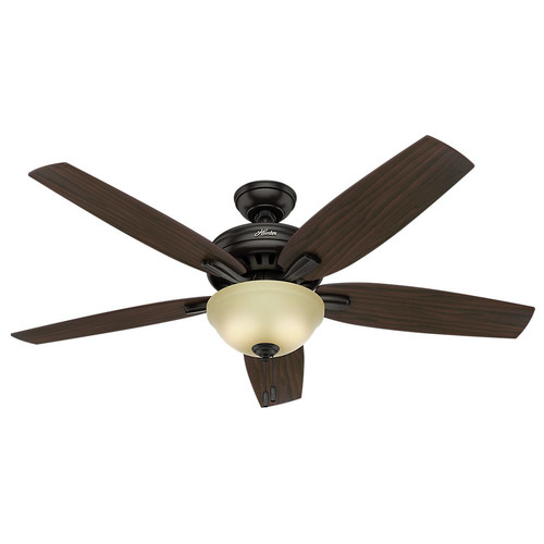 Hunter 54161 56 in. Newsome Premier Bronze Ceiling Fan with Light image number 0