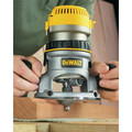 Dewalt DW618 2-1/4 HP EVS Fixed Base Router image number 10