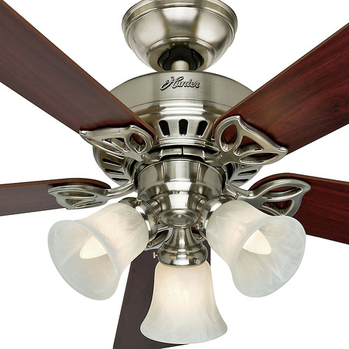 Hunter 53079 42 in. Beacon Hill Brushed Nickel Ceiling Fan with Light image number 1