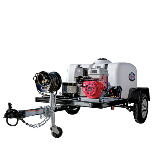 Simpson 95003 Trailer 4200 PSI 4.0 GPM Cold Water Mobile Washing System Powered HONDA image number 0
