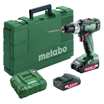 Metabo 602317520 18V SB 18 L Lithium-Ion Brushed 1/2 in. Cordless Hammer Drill Driver Kit (2 Ah) image number 0