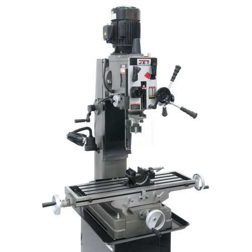 JET 351151 JMD-45GH Geared Head Square Column Mill Drill with Newall DP700 2-Axis DRO and X-Powerfeed