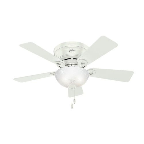 Hunter 52138 42 in. Haskell Fresh White Ceiling Fan with Light