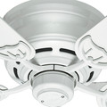 Hunter 53069 52 in. Low Profile III White Ceiling Fan image number 2