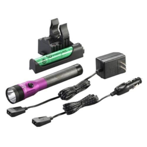 Streamlight 75482 Stinger LED HL Rechargeable Flashlight with PiggyBack Charger (Purple) image number 0