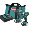 Makita CT225SYX 18V LXT Brushed Lithium-Ion 1/2 in. Cordless Drill Driver/1/4 in. Impact Driver Combo Kit (1.5 Ah) image number 0