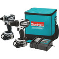 Factory Reconditioned Makita CT200RW-R 18V LXT 2.0 Ah Cordless Lithium-Ion Drill Driver and Impact Driver Combo Kit