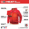 Milwaukee 302R-21XL M12 12V Li-Ion Heated Hoodie Kit - XL image number 3