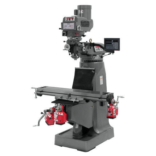 JET JTM-4VS Mill with DP700 3-Axis Knee X, Y and Z TPFA