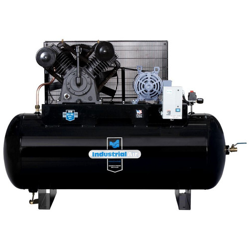 Industrial Air IH9919910 230V 10 HP 120 Gallon Oil-Lube Horizontal Air Compressor with Aosmith Motor image number 0