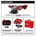 Milwaukee 2780-22 M18 FUEL 4-1/2 in. - 5 in. Paddle Switch Grinder with (2) REDLITHIUM Batteries image number 1