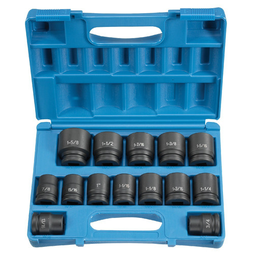 Grey Pneumatic 8038 14-Piece 3/4 in. Drive 6-Point SAE Standard Impact Socket Set