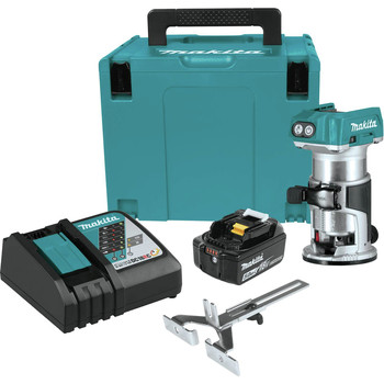 Makita XTR01T8J 18V LXT Lithium-Ion Brushless Cordless Compact Router Starter Kit (5.0Ah)