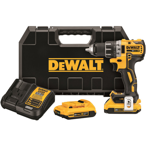Dewalt DCD791D2 20V MAX XR 2.0 Ah Cordless Lithium-Ion 1/2 in. Brushless Compact Drill Driver Kit