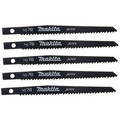 Makita 792541-7 4-3/4 in. General Purpose Wood Cutting Reciprocating Blade (5-Pack)