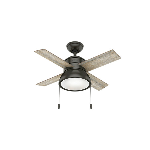 Hunter 59387 36 in. Loki Ceiling Fan with Light (Noble Bronze) image number 0