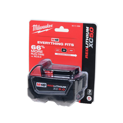 FREE Milwaukee M18 18V XC5.0 Battery Pack