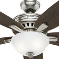 Hunter 54162 56 in. Newsome Brushed Nickel Ceiling Fan with Light image number 7