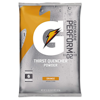 Gatorade 03968 Original Powdered Drink Mix, Orange, 51oz Packets, 14/Carton image number 0