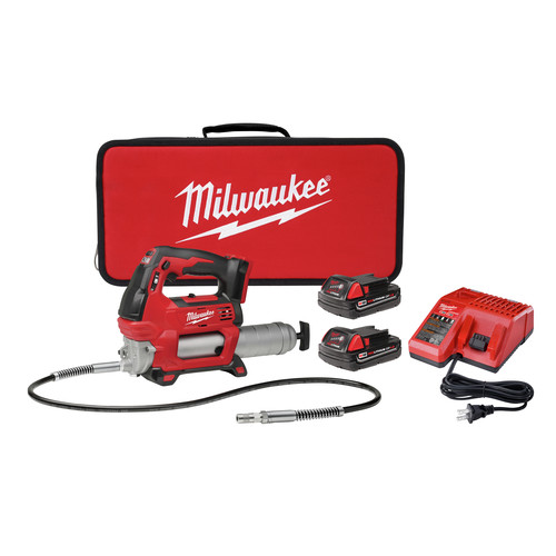 Milwaukee 2646-22CT M18 18V Cordless Lithium-Ion 2-Speed Grease Gun with 2 Batteries