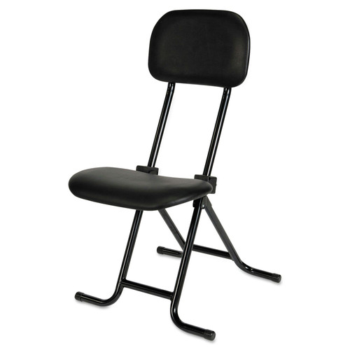 Alera ALECS612 IL Series Height-Adjustable Folding Stool (Black) image number 0
