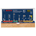 Bosch RBS006 1/4 in. Shank Carbide-Tipped Multi-Purpose 6-Piece Router Bit Set image number 1
