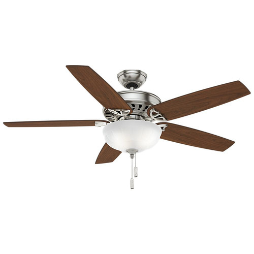 Casablanca 54023 54 in. Concentra Gallery Brushed Nickel Ceiling Fan with Light
