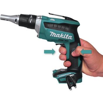 Makita XSF03TX2 18V LXT Lithium-Ion Brushless Cordless 4,000 RPM Drywall Screwdriver Kit with Autofeed Magazine (5 Ah) image number 4