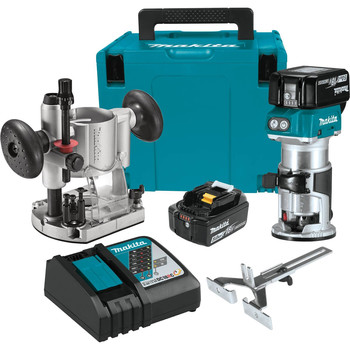 Factory Reconditioned Makita XTR01T7-R 18V LXT Lithium-Ion 1/4 in. Cordless Compact Router Kit (5 Ah)