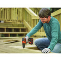 Black & Decker BDCDD220C 20V MAX Lithium-Ion 2-Speed 3/8 in. Cordless Drill Driver Kit (1.5 Ah) image number 3
