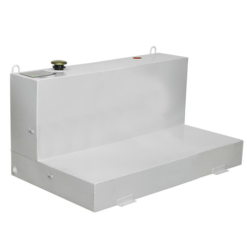 JOBOX 480000 103 Gallon L-Shaped Steel Liquid Transfer Tank - White image number 0