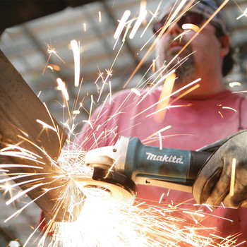 Factory Reconditioned Makita 9557PB-R 4-1/2 in. Paddle Switch AC/DC Angle Grinder image number 2